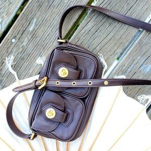 Marc Jacobs Chocolate Double Pocket Crossbody Bag